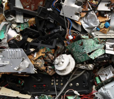 pile of trashed equipment